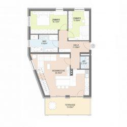 Dorfwiesen Lüsen - Wohnung 7 Skizze